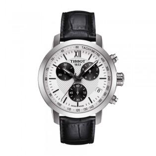 Tissot T055.417.16.038.00 Men's PRC 200 Fencing Chronograph Leather Strap Watch