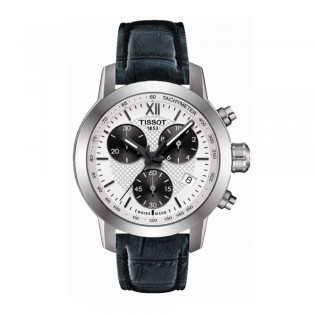 Tissot T055.217.16.038.00 Women's PRC 200 Fencing Chronograph Leather Strap Watch