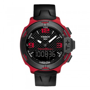 Tissot T081.420.97.207.00 Men's T-race Touch Aluminium Silicone Strap Watch (Red)