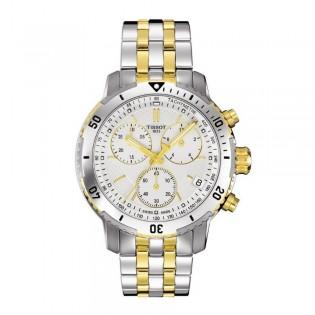 Tissot T067.417.22.031.01 Men's PRS 200 Chronograph Steel Watch (2 Toned)