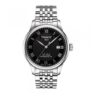 Tissot T006.407.11.053.00 Men's Le Locle Powermatic 80 Steel Watch (Black)