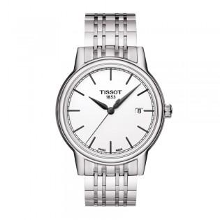 Tissot T085.410.11.011.00 Men's Carson Quartz Steel Watch (White)