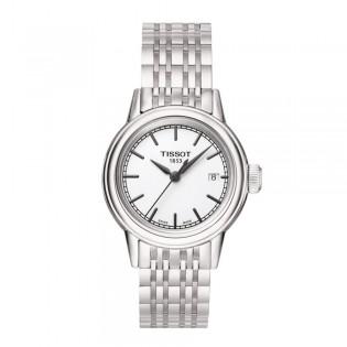 Tissot T085.210.11.011.00 Women's Carson Lady Quartz Steel Watch (White)