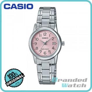 Casio LTP-V002D-4BUDF Women's Quartz Analog Date Steel Watch LTP-V002D-4B