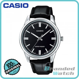 Casio MTP-V005L-1AUDF Men's Enticer Analog Quartz Leather Watch MTP-V005L-1A