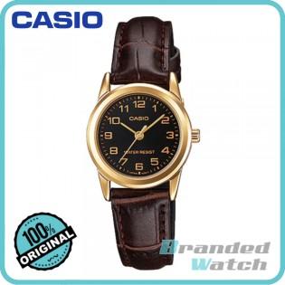 Casio LTP-V001GL-1BUDF Women's Dress Analog Leather Strap Watch LTP-V001GL-1B