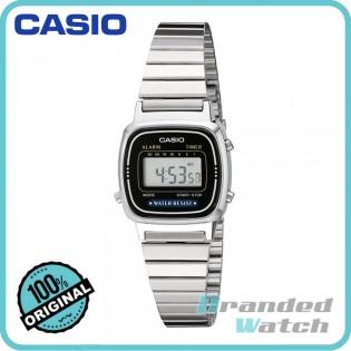 Casio LA670WA-1SDF Women's Vintage Series Digital Steel Watch LA670WA-1S