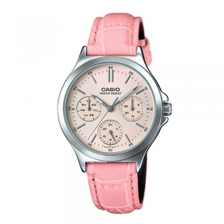 Casio LTP-V300L-4AUDF Women's Multifunction Leather Watch LTP-V300L-4A