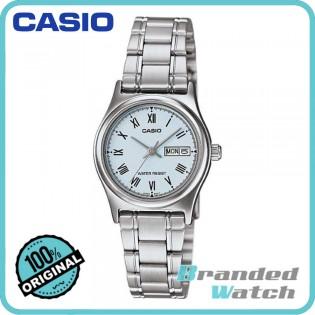 Casio LTP-V006D-2BUDF Women's Quartz Date Date Display Steel Watch LTP-V006D-2B
