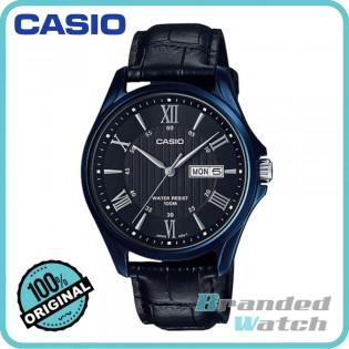 Casio MTP-1384BUL-1AVDF Men's Quartz Date Date Display Leather Watch MTP-1384BUL-1A