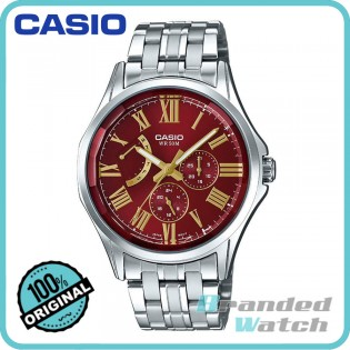 Casio MTP-E311DY-4AVDF Men's Quartz Multifunction Steel Watch MTP-E311DY-4A