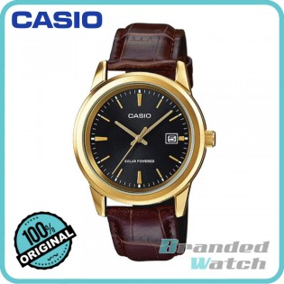 Casio MTP-VS01GL-1ADF Men's Analog Solar Powered Leather Watch MTP-VS01GL-1A