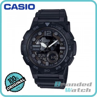 Casio AEQ-100W-1BVDF Men's Digital Analog 10 Years Battery Resin Watch AEQ-100W-1B