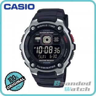 Casio AE-2000W-1BVDF Men's Digital 10 Years Battery Resin Watch AE-2000W-1B