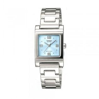 Casio LTP-1237D-2ADF Women's Quartz Analog Square Steel Watch LTP-1237D-2A