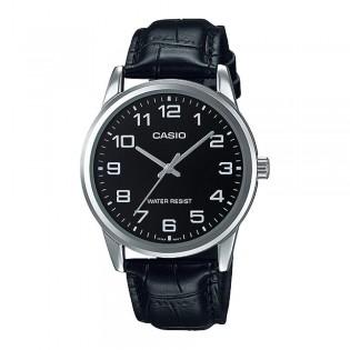 Casio MTP-V001L-1BUDF Men's Quartz Analog Leather Watch MTP-V001L-1B