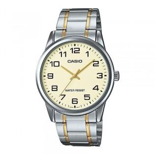 Casio MTP-V001SG-9BUDF Men's Quartz Analog 2 Toned Steel Watch MTP-V001SG-9B