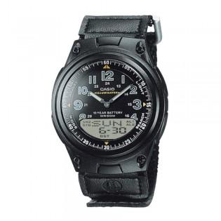 Casio AW-80V-1BVDF Men's Digital Analog 10 Year Battery Nylon Strap Watch AW-80V-1B