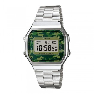 Casio A168WEC-3DF Unisex Vintage Series Digital Camo Steel Watch A168WEC-3D