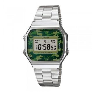 Casio A168WEC-3DF Unisex Vintage Series Digital Camo Steel Watch A168WEC-3D