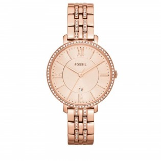 Fossil ES3546 Women's Jacqueline Rose Toned Quartz Stainless Steel Watch