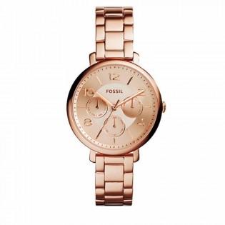 Fossil ES3665 Women's Modern Jacqueline Multifunction Rose Toned Steel Watch