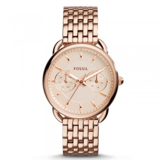 Fossil ES3713 Women's Tailor Multifunction Rose Toned Steel Watch