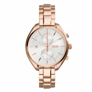 Fossil CH2977 Women's Land Racer Chronograph Rose Toned Steel Watch