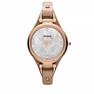 Fossil ES3151 Women's Georgia Quartz Sand Leather Watch