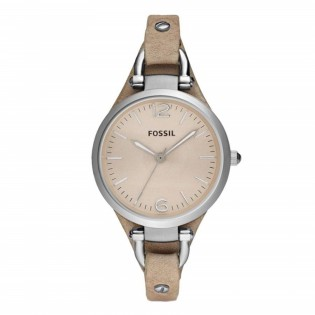 Fossil ES2830 Women's Georgia Quartz Brown Leather Watch