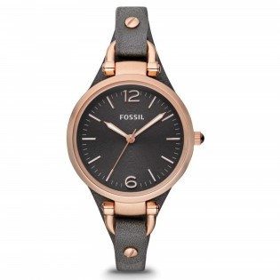 Fossil ES3077 Women's Georgia Quartz Smoke Leather Watch