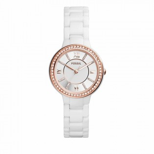 Fossil CE1082 Women's Virginia Crystal Ceramic Watch