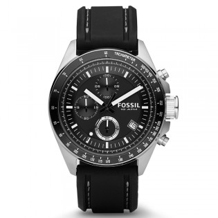Fossil CH2573 Men's Decker Chronograph Black Silicone Watch