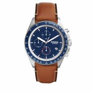 Fossil CH3039 Men's Sport 54 Chronograph Brown Leather Watch