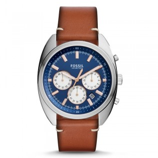 Fossil CH3045 Men's Drifter Chronograph Brown Leather Watch