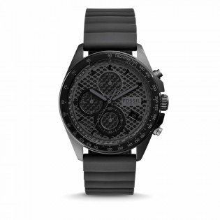 Fossil CH3080 Men's Sport 54 Chronograph Black Silicone Watch