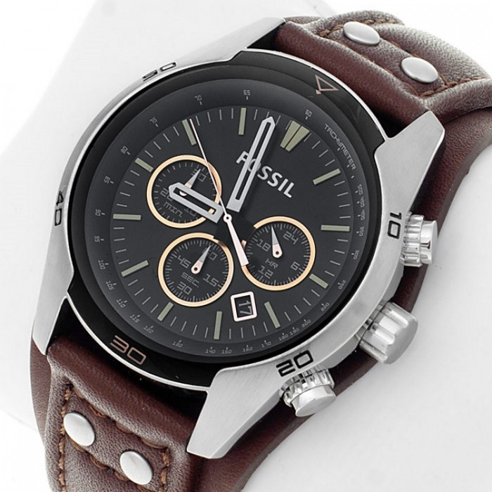 263d0bdde Fossil CH2891 Men's Coachman Chronograph Brown Leather Watch