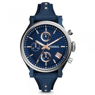 Fossil ES4113 Women's Original Boyfriend Chronograph Leather Watch