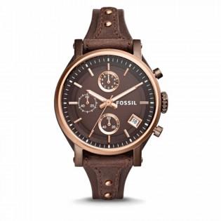 Fossil ES4286 Women's Original Boyfriend Chronograph Leather Watch