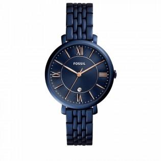 Fossil ES4094 Women's Jacqueline Quartz Blue Steel Watch