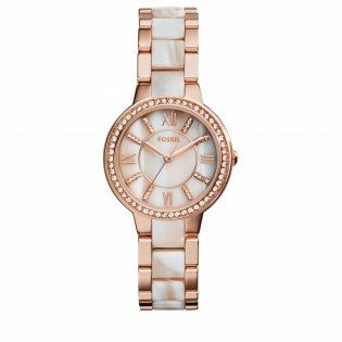 Fossil ES3716 Women's Virginia Rose Gold and Horn Acetate Watch