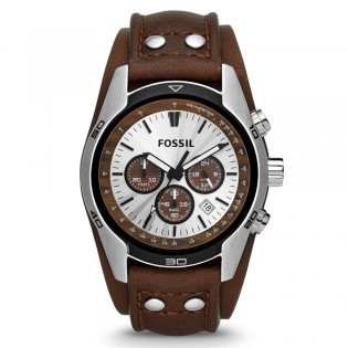 Fossil CH2565 Men's Coachman Chronograph Leather Watch