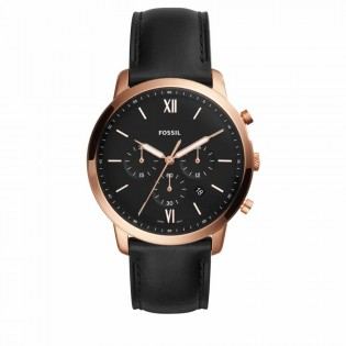 Fossil FS5381 Men's Neutra Chronograph Black Leather Watch