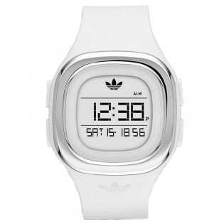 Adidas ADH3032 Unisex Denver White Digital Silicone Watch