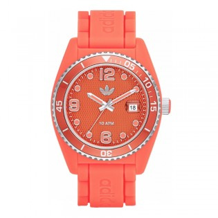 Adidas ADH2939 Men's Originals Orange Brisbane Quartz Silicone Watch