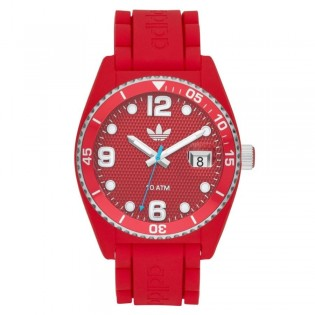 Adidas ADH6152 Men's Originals Red Brisbane Quartz Silicone Watch
