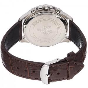 (OFFICIAL MALAYSIA WARRANTY) Casio Edifice EFR-304L-7A Men's Dual Dial World Time Alarm Leather Watch EFR-304L-7AV