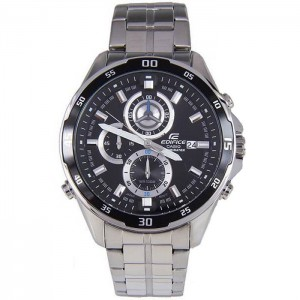 (OFFICIAL MALAYSIA WARRANTY) Casio Edifice EFR-547D-1A Men's LED Light Chronograph Date Steel Watch EFR-547D-1AV