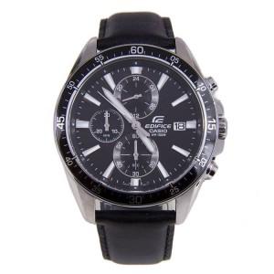 (OFFICIAL MALAYSIA WARRANTY) Casio Edifice EFR-546L-1A Men's Chronograph Date Leather Strap Watch EFR-546L-1AV
