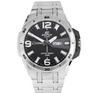 (OFFICIAL MALAYSIA WARRANTY) Casio Edifice EFR-104D-1A Men's Quartz Date Display Stainless Steel Watch EFR-104D-1AV